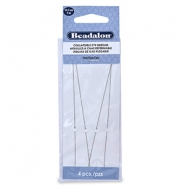 Beadalon Collapsible Eye Needles 12.7mm argenté