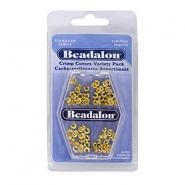 Beadalon Crimp Cover Assorted doré