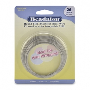 Beadalon Wrapping Wire Stainless Steel 26Gauge acier inox clair