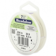 Beadalon stringing wire 7 strand 0.61mm argenté