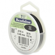Beadalon stringing wire 7 strand 0.46mm noir