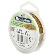 Beadalon stringing wire 7 strand 0.46mm doré satiné