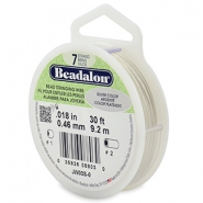 Beadalon stringing wire 7 strand 0.46mm argenté