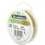 Beadalon stringing wire 7 strand 0.38mm doré