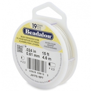 Beadalon stringing wire 19 strand 0.61mm argenté