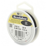 Beadalon stringing wire 19 strand 0.46mm noir