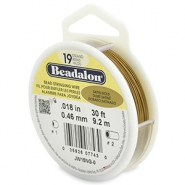 Beadalon stringing wire 19 strand 0.46mm doré satiné