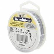 Beadalon stringing wire 19 strand 0.46mm argenté satiné