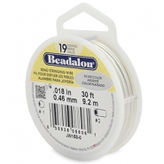 Beadalon stringing wire 19 strand 0.46mm argenté