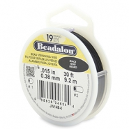 Beadalon stringing wire 19 strand 0.38mm noir