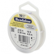 Beadalon stringing wire 19 strand 0.38mm argenté