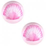 Cabochon basique 20mm coquille-rose
