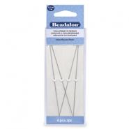 Beadalon Collapsible Eye Needles 12.7mm heavy argenté