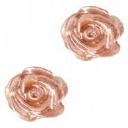 Perles roses 6mm blanc-rose ginger pearl shine