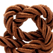 Cordon tressé 6mm marron chocolat clair