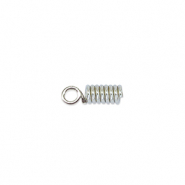 Beadalon spring cord end 1.8mm Argenté