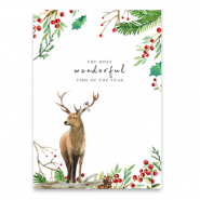 "Cartes à bijoux ""the most wonderful time of the year"" Marron-blanc"