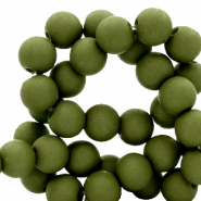 Perles acryliques 6mm Vert olive dusty