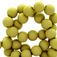 Perles acryliques 6mm Vert olive
