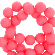 Perles acryliques 6mm Rose corail vif
