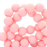 Perles acryliques 6mm Rose coquillage