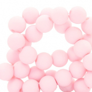 Perles acryliques 6mm Rose clair