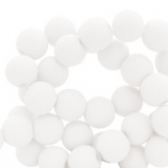 Perles acryliques 8mm Blanc
