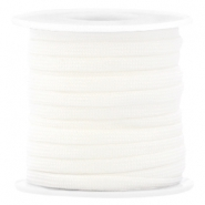 Cordon surf plat 4mm blanc