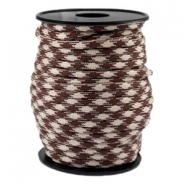 Paracord rond 4mm beige-marron chaud