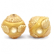 Perles bohèmes 14mm Golden Coast Yellow-Gold